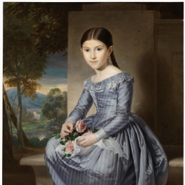 Young Girl Seated in a Landscape