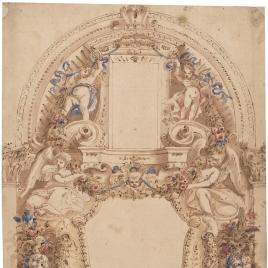 Panel para la decoración de un muro (Frescos Cartuja de Calci, Pisa)