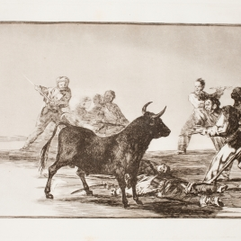 Approaching the bull with lances, scimitars, banderillas and other weapons