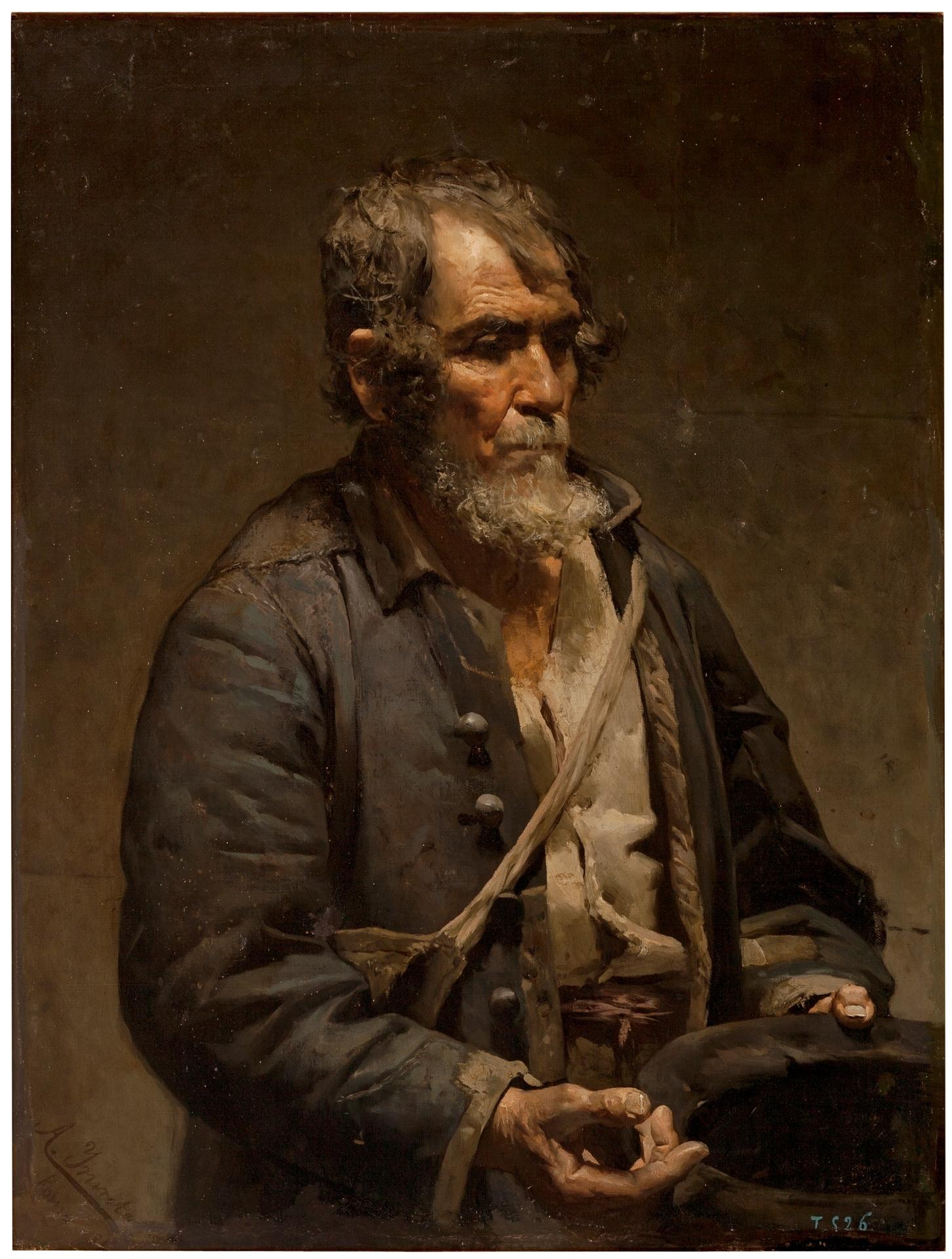 Resultado de imagen de oleo de mendigo siglo xix