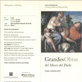 Grandes obras del Museo del Prado : octubre - noviembre de 2004 : ciclo de conferencias / Amigos del Museo del Prado.