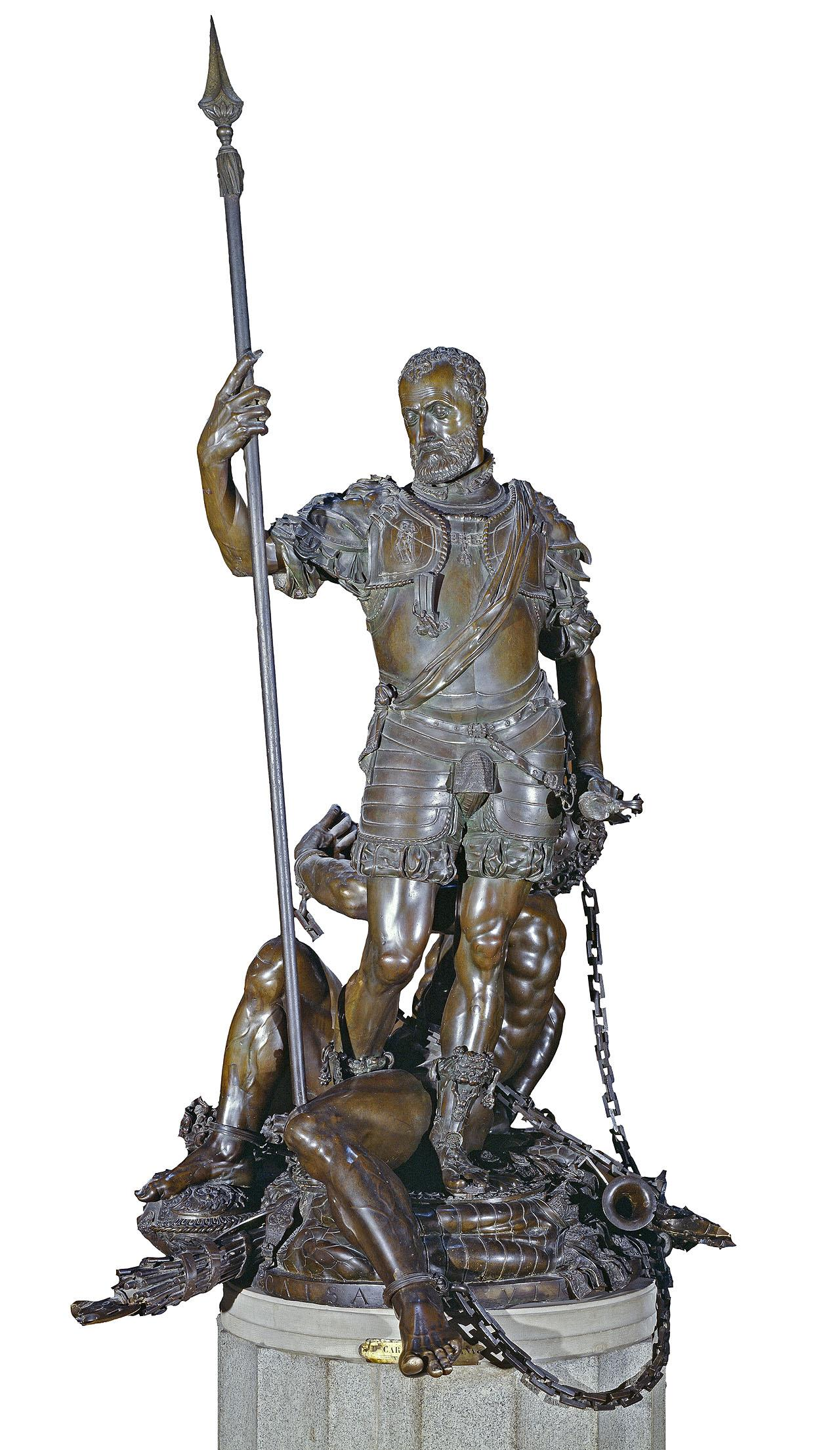 Resultado de imagen de la estatua con armadura romana de carlos