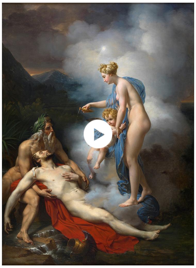 Venus curando a Eneas