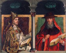 San Gregorio Magno y san Jerónimo / San Ambrosio y san Agustín