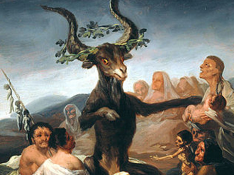 <em>El aquelarre</em> o <em>El gran cabrón</em>, Francisco de Goya y Lucientes, comentada por Domingo Pérez Minik