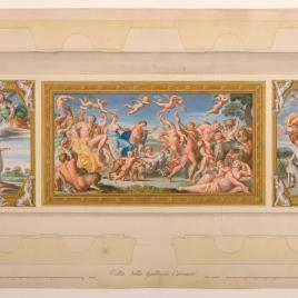 Vista del arco de la Galería Carracci en el palacio Farnese