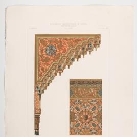 Detalles de la Sala de Justicia en la Alhambra de Granada