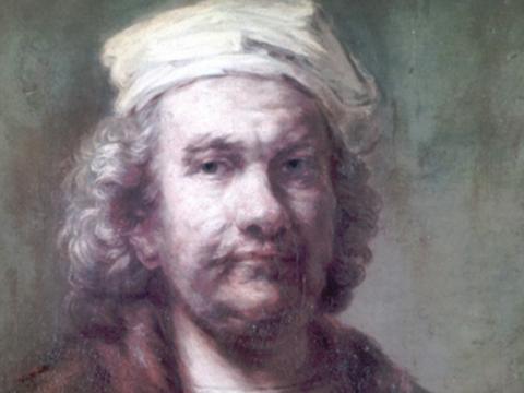 <em>Autorretrato</em>, (copia moderna de Rembrandt Harmensz, van Rijn), comentada por Antonio Quirós