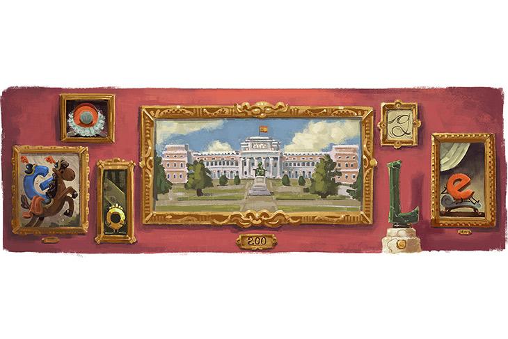 Google conmemora el Bicentenario del Museo del Prado con un 'doodle'