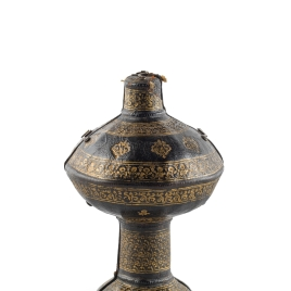 Case for Fluted goblet with a tall stem and rubies