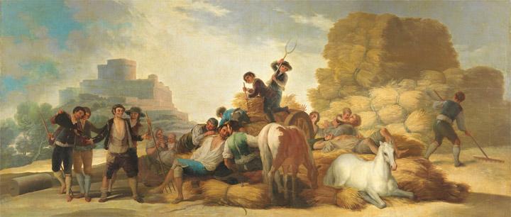 La era, oEl Verano(antes de la restauración). Goya,1786.Óleo sobre lienzo, 277cm x 642cm