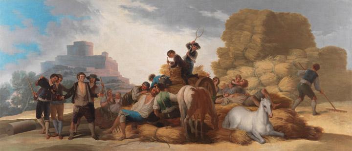 La era, oEl Verano(después de la restauración).Goya,1786.Óleo sobre lienzo, 277cm x 642cm