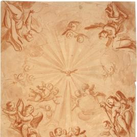 La Paloma del Espíritu Santo, rodeada de ángeles y amorcillos