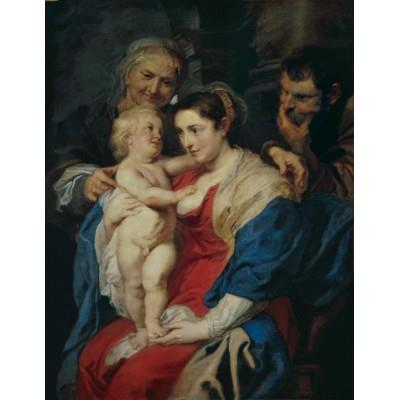 """The Holy Family with Saint Anne"""