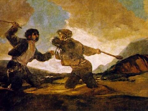 <em>Duelo a garrotazos</em>, Francisco de Goya y Lucientes, comentada por Joaquín Ruiz Giménez