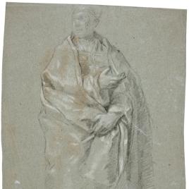 Obispo en pie / Estudio para un genio de las artes