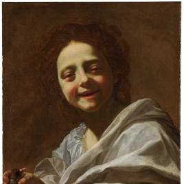 Retrato de niña con paloma