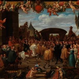 Entrada triunfal de don Juan José de Austria (?)