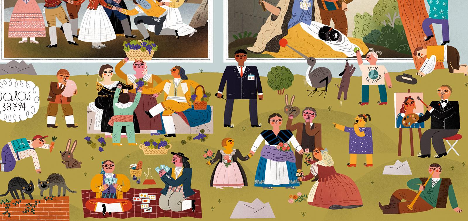 Plano para familias del Museo del Prado