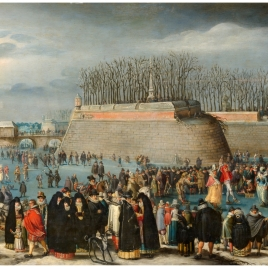 Skating Masquerade, or Carnival on Ice at the Kipdorppoort Moats in Antwerp