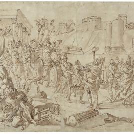 Furio Camilo expulsando a los galos de Roma