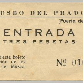 Billete de entrada al Museo del Prado [1954]
