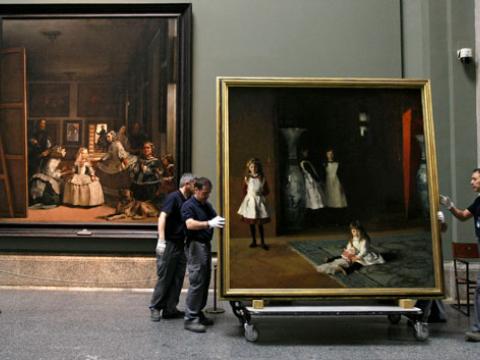 El Museo del Prado exhibe la obra que se inspiró en <em>Las meninas</em> de Velázquez