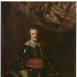 Philip IV in Armour, with a Lion at his Feet