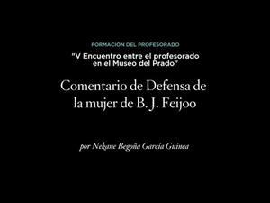 Comentario de Defensa de la mujer de B. J. Feijoo