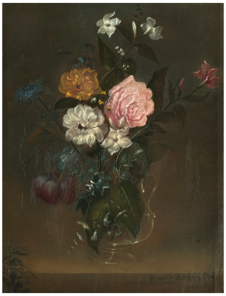 Glass Vase with Roses and Jasmine