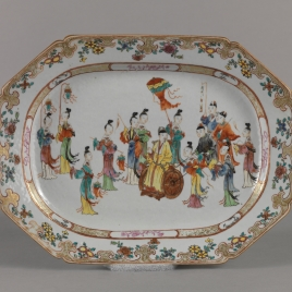 Oval platter. Dutch East India Company
