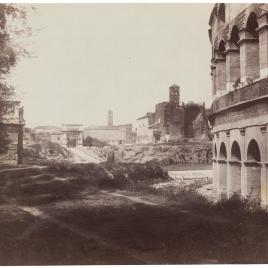 Vista del Foro desde el lado sur del Coliseo, Roma