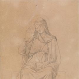 Estudio para la figura de María (Regina Martirum. Capilla de las Letanías de la Iglesia de Notre Dame de Lorette, París).
