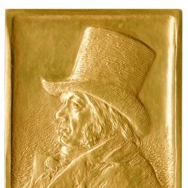 Plaqueta conmemorativa del primer centenario de la muerte de Goya