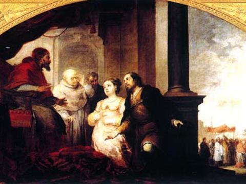 <em>Fundación de Santa María Maggiore de Roma: El patricio revela su sueño al papa Liberio</em>, Bartolomé Esteban Murillo, comentada por Diego Angulo