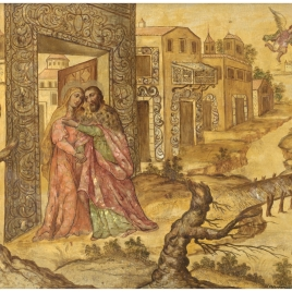 El abrazo ante la Puerta Dorada
