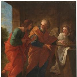 San Pedro y San Juan en el sepulcro de Cristo