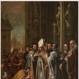 Saint Ambrose absolves the Emperor Theodosius