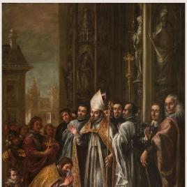 San Ambrosio absuelve al emperador Teodosio