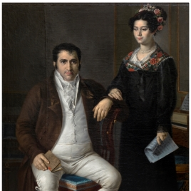 Pedro Benítez and his Daughter María de la Cruz