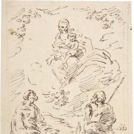Aparición de la Virgen a San Pedro y Santiago (?)