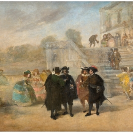 Intriga contra don Francisco de Quevedo y Villegas en los jardines del palacio del Buen Retiro