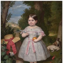 Retrato de niña en un paisaje