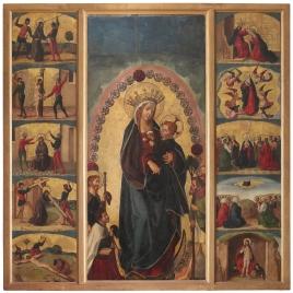 Tríptico de la Virgen del Rosario