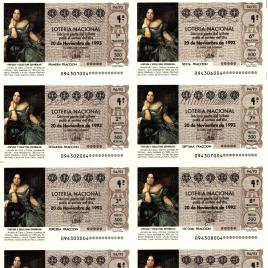 Capilla de billete de Lotería Nacional para el sorteo de 20 de noviembre de 1993
