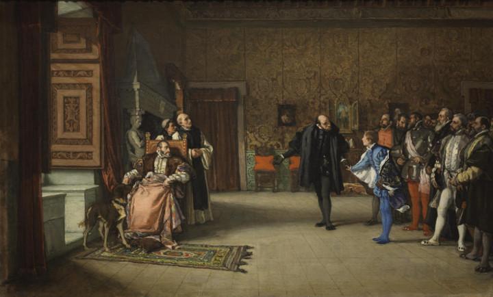 Presentación de don Juan de Austria al emperador Carlos V, en Yuste, de Eduardo Rosales