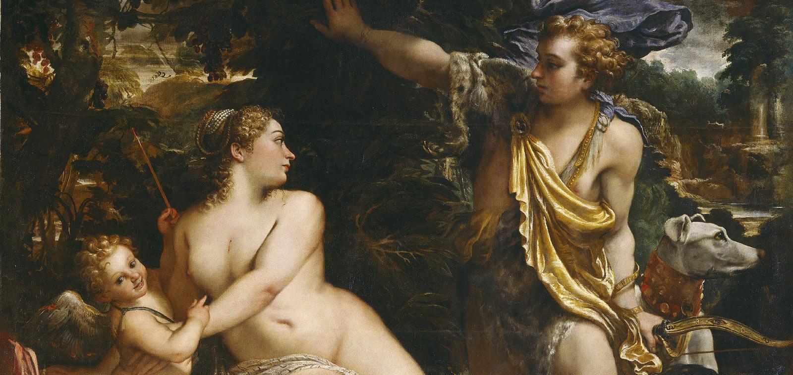 Annibale Carracci's, Venus, Adonis & Cupid