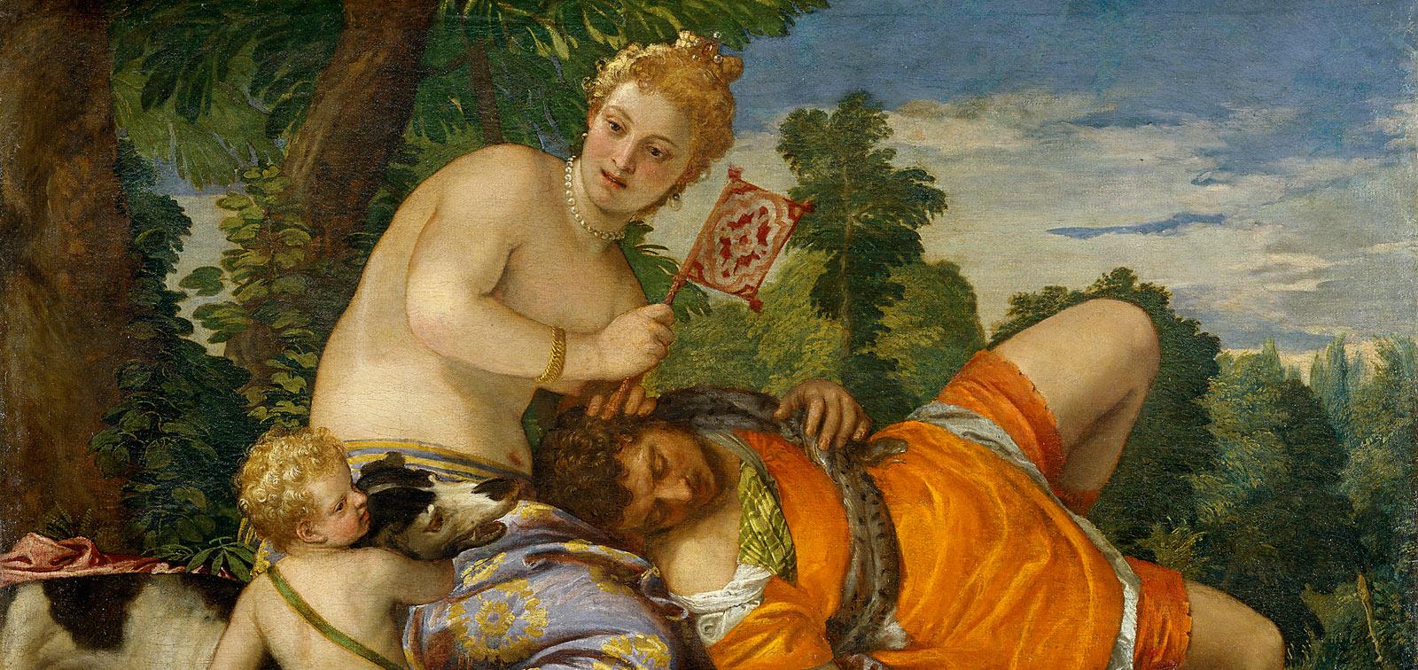 Annibale Carracci. Venus, Adonis y Cupido