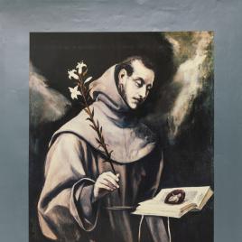 Presencia del Museo del Prado en México [Material gráfico] : El Greco, San Antonio de Padua.