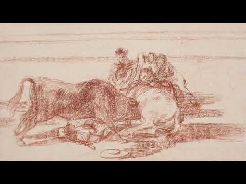 "Tauromaquia. Goya. Drawings. ""Only my Strength of Will Remains"""